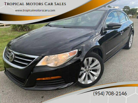 2012 Volkswagen CC for sale at Tropical Motors Car Sales in Deerfield Beach FL