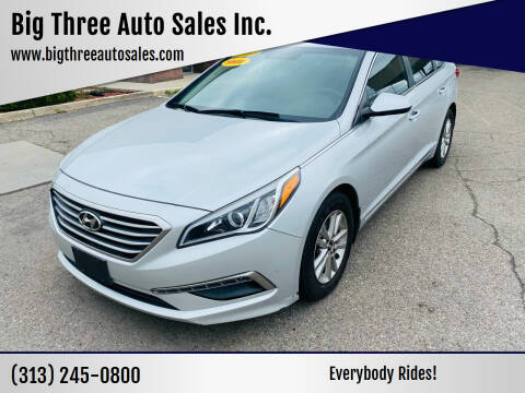 2015 Hyundai Sonata for sale at Big Three Auto Sales Inc. in Detroit MI