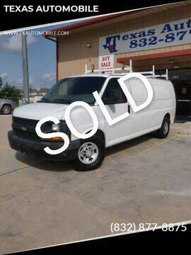 2011 Chevrolet Express Passenger for sale at TEXAS AUTOMOBILE in Houston TX