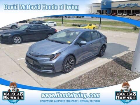 2020 Toyota Corolla for sale at DAVID McDAVID HONDA OF IRVING in Irving TX