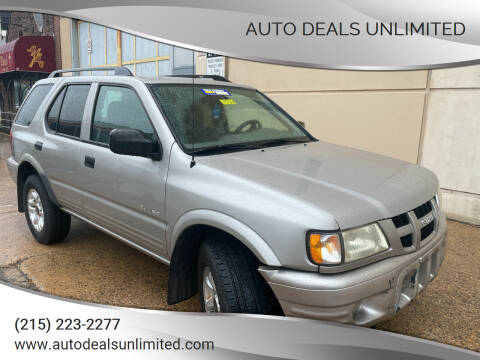 2004 Isuzu Rodeo for sale at AUTO DEALS UNLIMITED in Philadelphia PA