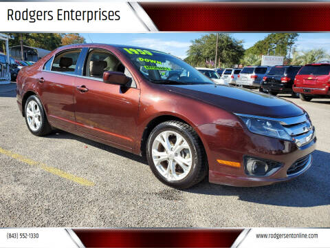 2012 Ford Fusion for sale at Rodgers Enterprises in North Charleston SC