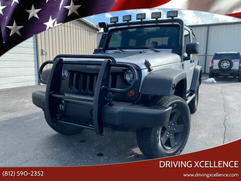 2012 Jeep Wrangler for sale at Driving Xcellence in Jeffersonville IN