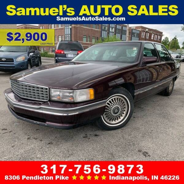 1995 Cadillac DeVille for sale at Samuel's Auto Sales in Indianapolis IN