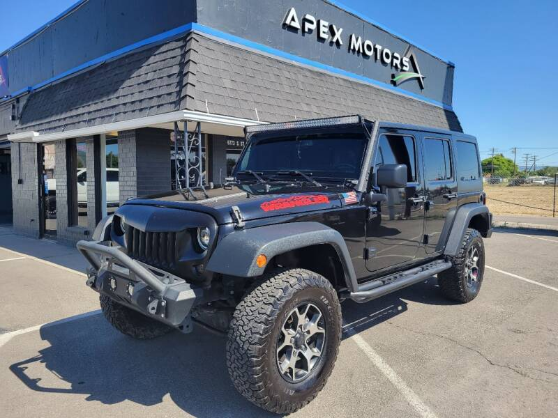 2016 Jeep Wrangler Unlimited for sale at Apex Motors in Murray UT