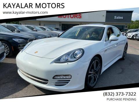 2013 Porsche Panamera for sale at KAYALAR MOTORS in Houston TX