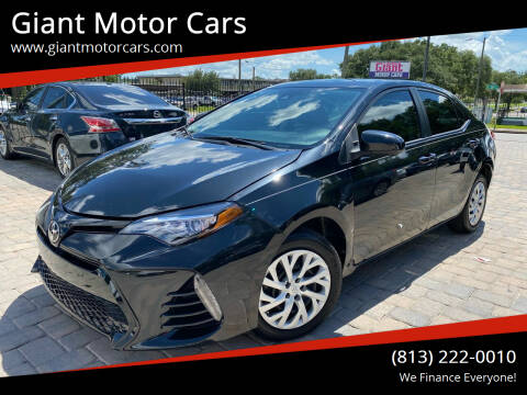 2018 Toyota Corolla for sale at Giant Motor Cars in Tampa FL