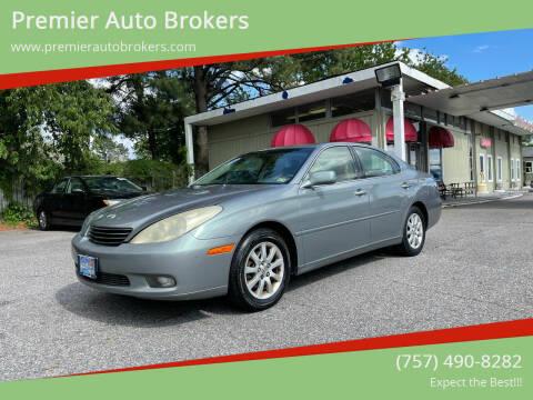 2003 Lexus ES 300 for sale at Premier Auto Brokers in Virginia Beach VA