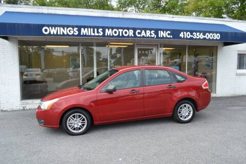 2010 Ford Focus for sale at Owings Mills Motor Cars in Owings Mills MD