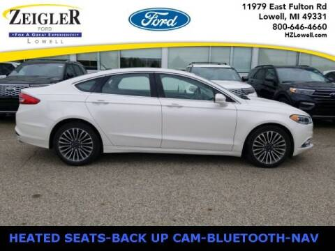 2017 Ford Fusion for sale at Zeigler Ford of Plainwell- michael davis in Plainwell MI