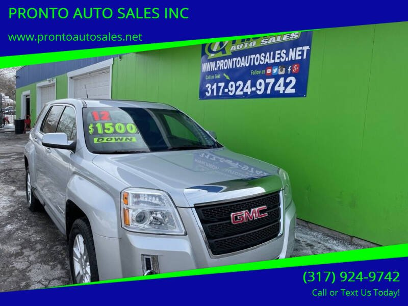 2012 GMC Terrain for sale at PRONTO AUTO SALES INC in Indianapolis IN