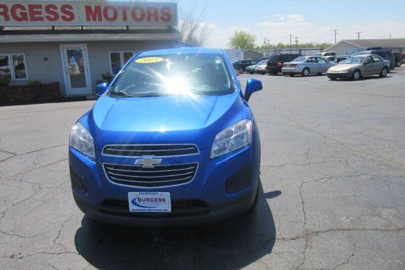 2015 Chevrolet Trax for sale at Burgess Motors Inc in Michigan City IN