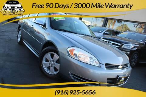 2009 Chevrolet Impala for sale at West Coast Auto Sales Center in Sacramento CA