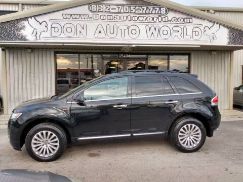 2014 Lincoln MKX for sale at Don Auto World in Houston TX