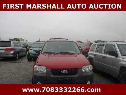 2007 Ford Escape for sale at First Marshall Auto Auction in Harvey IL