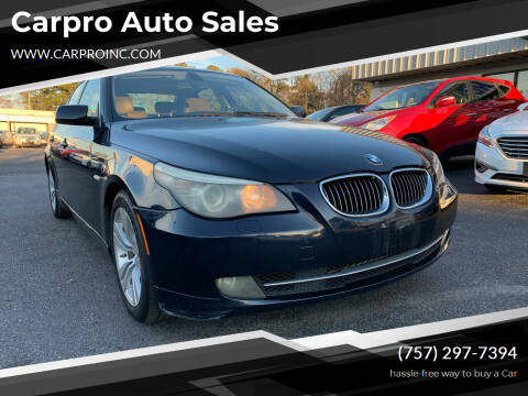 2010 BMW 5 Series for sale at Carpro Auto Sales in Chesapeake VA