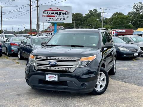 2014 Ford Explorer for sale at Supreme Auto Sales in Chesapeake VA