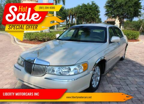 2002 Lincoln Town Car for sale at LIBERTY MOTORCARS INC in Royal Palm Beach FL