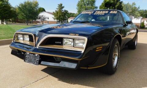 1978 Pontiac Trans Am for sale at WEST PORT AUTO CENTER INC in Fenton MO