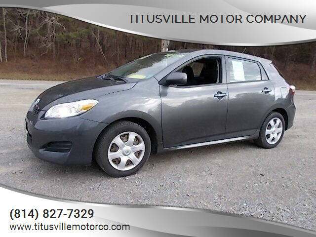 2009 Toyota Matrix for sale at Titusville Motor Company in Titusville PA