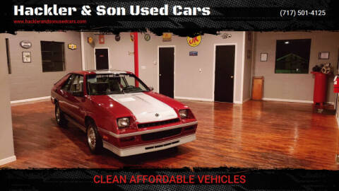 1986 Dodge Charger for sale at Hackler & Son Used Cars in Red Lion PA