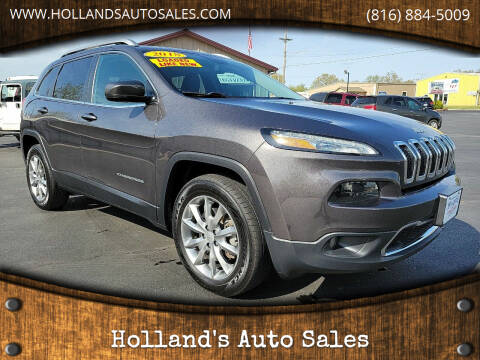2018 Jeep Cherokee for sale at Holland's Auto Sales in Harrisonville MO