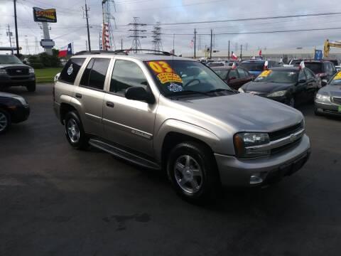 2003 Chevrolet TrailBlazer for sale at Texas 1 Auto Finance in Kemah TX
