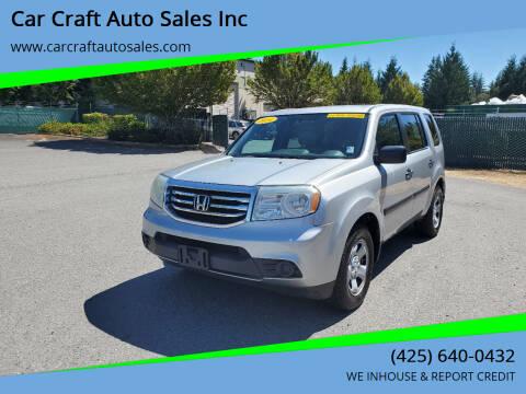 2014 Honda Pilot for sale at Car Craft Auto Sales Inc in Lynnwood WA