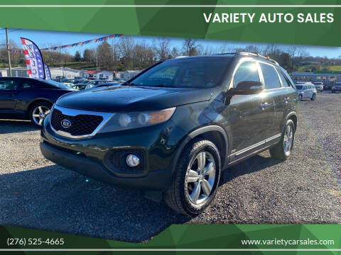 2012 Kia Sorento for sale at Variety Auto Sales in Abingdon VA