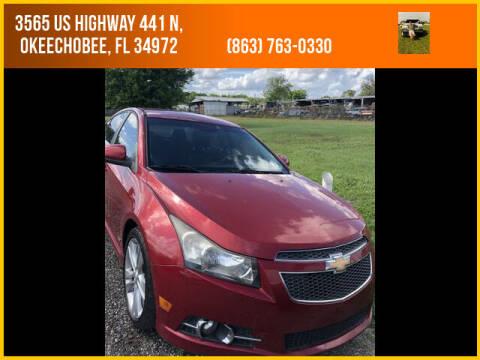 2011 Chevrolet Cruze for sale at M & M AUTO BROKERS INC in Okeechobee FL