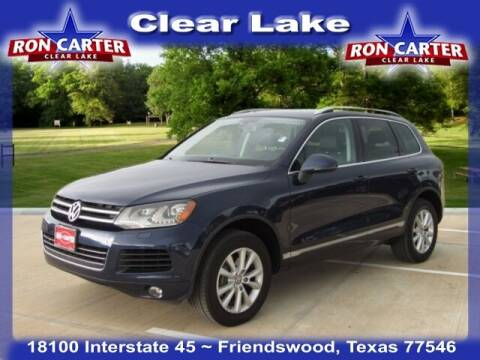 2014 Volkswagen Touareg for sale at Ron Carter  Clear Lake Used Cars in Houston TX