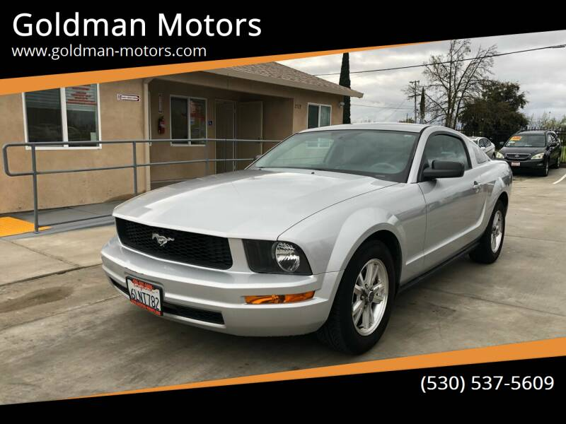 2007 Ford Mustang for sale at Goldman Motors Corp in Stockton CA