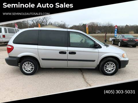 2005 Dodge Caravan for sale at Seminole Auto Sales in Seminole OK
