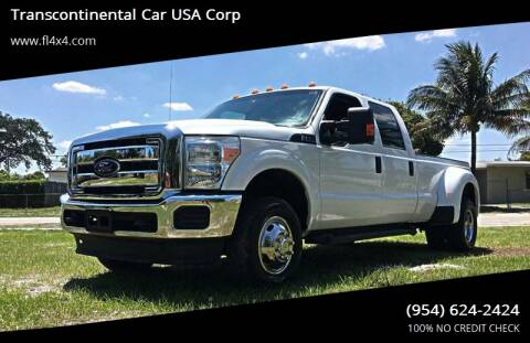2014 Ford F-350 Super Duty for sale at Transcontinental Car USA Corp in Fort Lauderdale FL