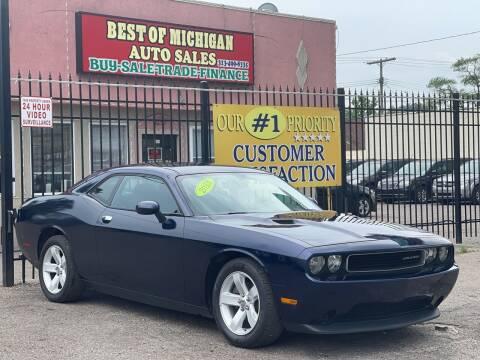 2013 Dodge Challenger for sale at Best of Michigan Auto Sales in Detroit MI