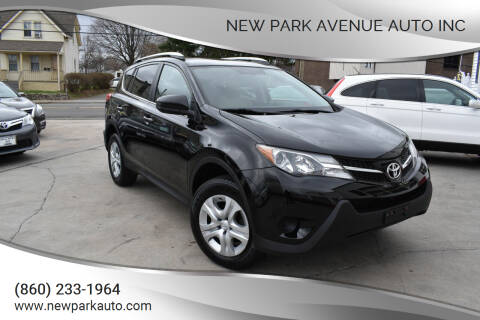 2013 Toyota RAV4 for sale at New Park Avenue Auto Inc in Hartford CT