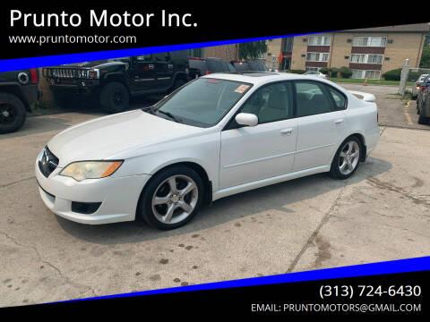 2008 Subaru Legacy for sale at Prunto Motor Inc. in Dearborn MI