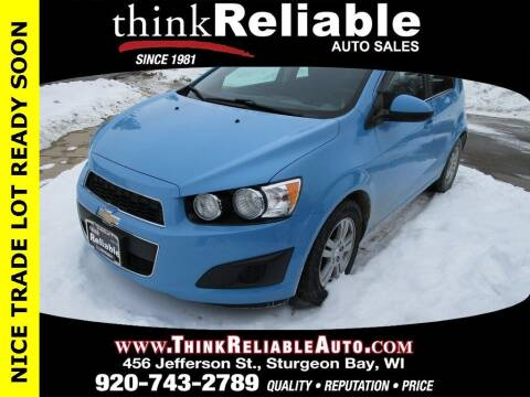 2014 Chevrolet Sonic for sale at RELIABLE AUTOMOBILE SALES, INC in Sturgeon Bay WI