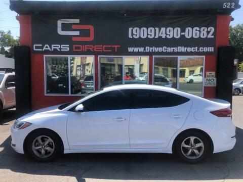 2017 Hyundai Elantra for sale at Cars Direct in Ontario CA