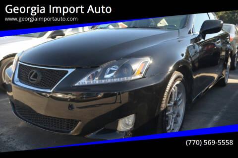 2007 Lexus IS 250 for sale at Georgia Import Auto in Alpharetta GA