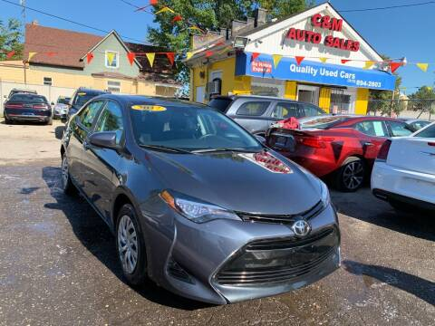2017 Toyota Corolla for sale at C & M Auto Sales in Detroit MI