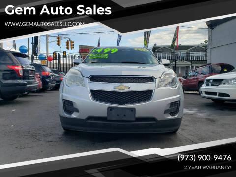 2012 Chevrolet Equinox for sale at Gem Auto Sales in Irvington NJ