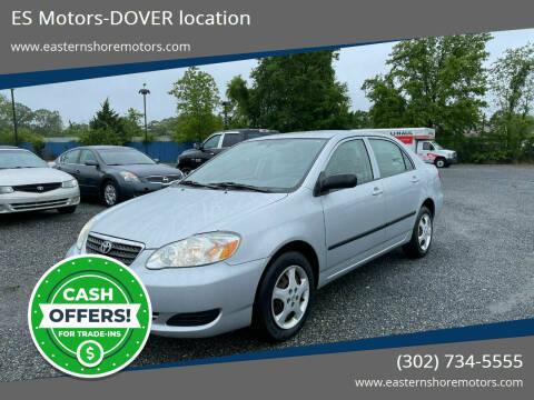 2007 Toyota Corolla for sale at ES Motors-DAGSBORO location - Dover in Dover DE