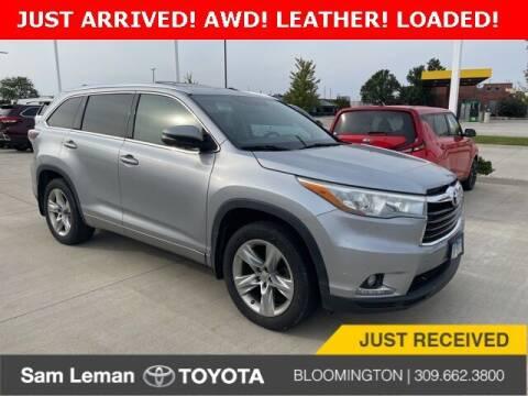 2014 Toyota Highlander for sale at Sam Leman Mazda in Bloomington IL