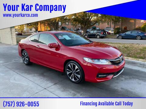 2016 Honda Accord for sale at Your Kar Company in Norfolk VA