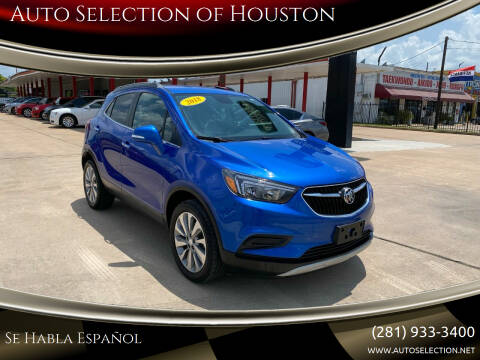 2018 Buick Encore for sale at Auto Selection of Houston in Houston TX