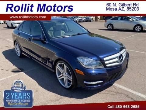 2013 Mercedes-Benz C-Class for sale at Rollit Motors in Mesa AZ