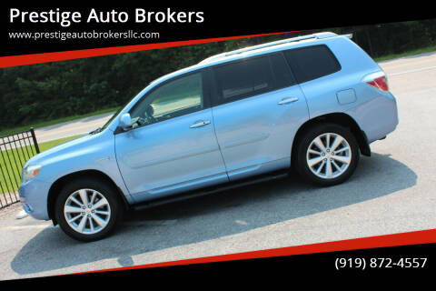2008 Toyota Highlander Hybrid for sale at Prestige Auto Brokers in Raleigh NC