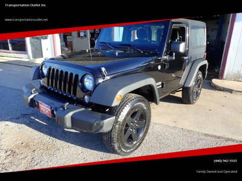 2014 Jeep Wrangler for sale at Transportation Outlet Inc in Eastlake OH