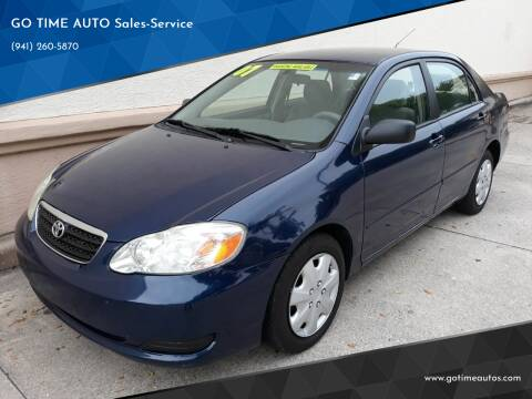 2007 Toyota Corolla for sale at Go Time Automotive in Sarasota- Bradenton FL